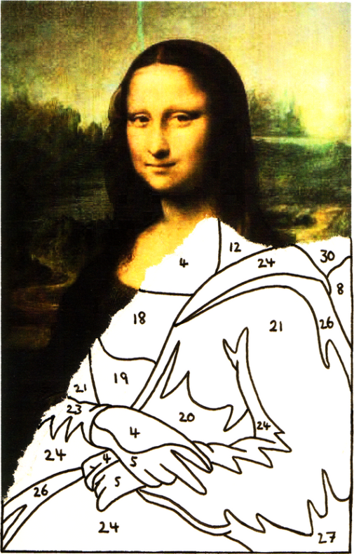 Painting by numbers is the analogue of drag-n-drop